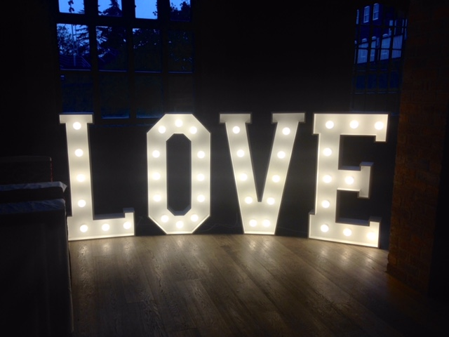 Love Letter Hire In Birmingham  Led Light Up Love Sign