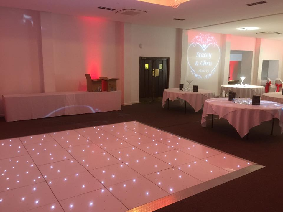 Dancefloor Hire Solihull Provided For A Wedding Reception