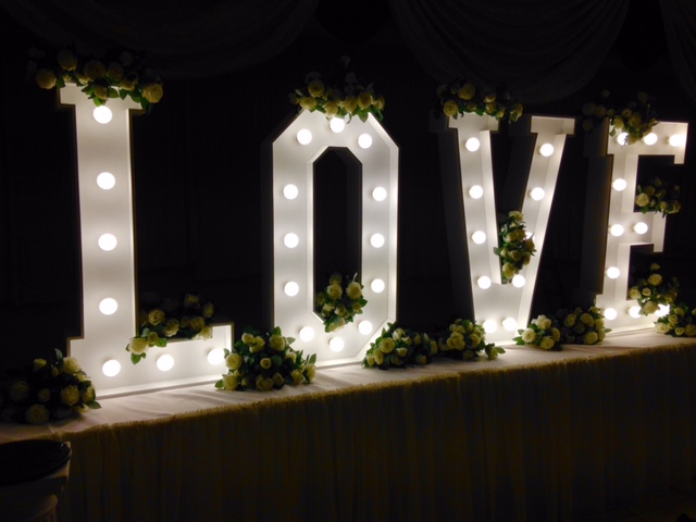 Love Letter Hire In Birmingham Led Light Up Love Sign Event Store