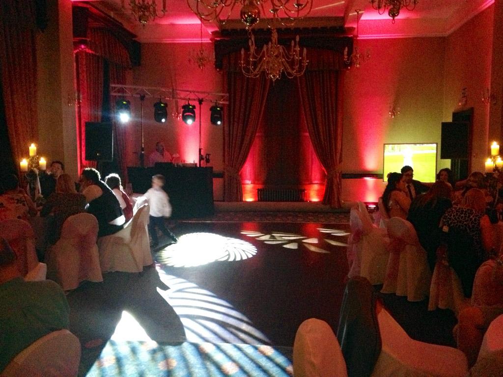 Dj At Rowton Castle  Wedding Disco Provided In Shrewsbury